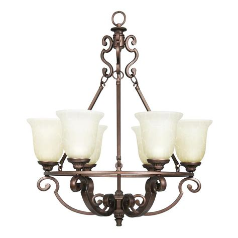 bronze chandelier with shades fairview 6 light heritage bronze chandelier with glass