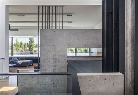 exposed concrete walls casa ra spacious residence in argentine patagonia