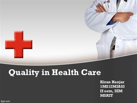 quality and reliability in health care