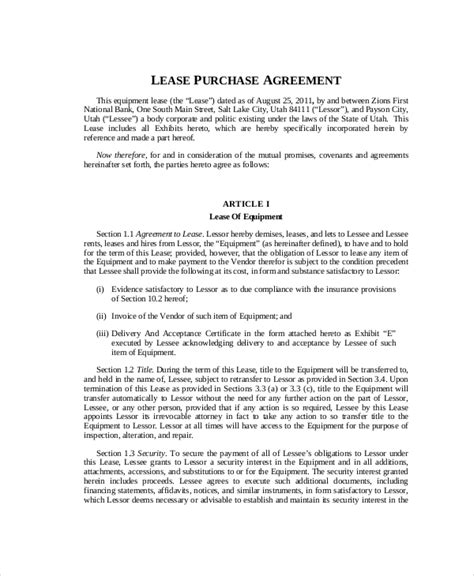 Lease Purchase Agreement 9 Free Pdf Word Documents Download Free Premium Templates Lease Purchase Contract Template