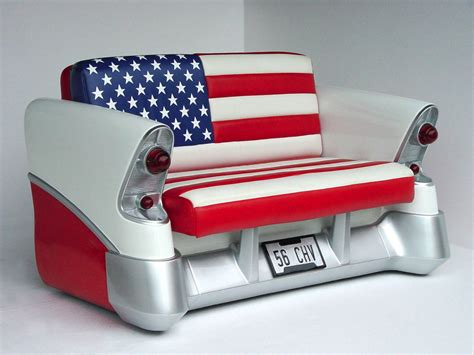 Sofa Jaguar Mini 1956 chevy american flag sofa no car no cars