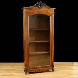 Secretaire Bookcase French Antique Bookcase In Walnut With Glass Panel