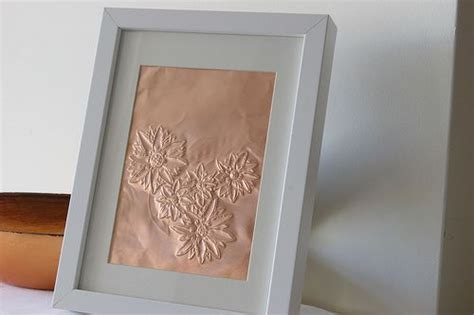 copper sheet craft ideas framed flowers on copper sheet craft ideas pinterest