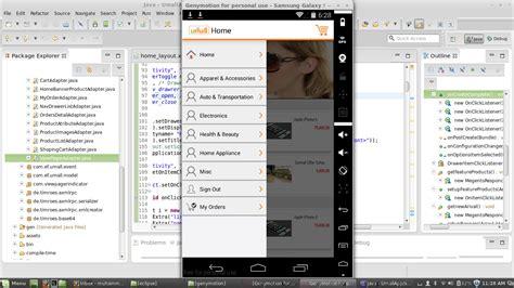 layout design navigation item android navigation drawer android list item hight