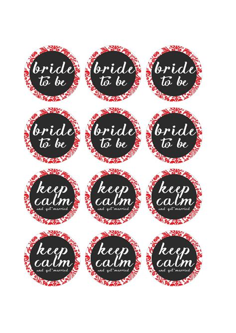 bridal shower cupcake toppers printables free printable pdf bridal shower cupcake toppers damask you re invited