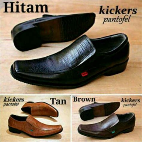 Kickers Slip On Kulit 01 sepatu pantofel murah kickers kulit asli formal kerja pria