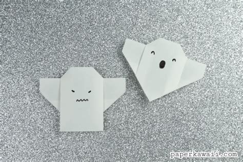 How To Make Paper Ghost For - easy origami ghost tutorial for paper kawaii