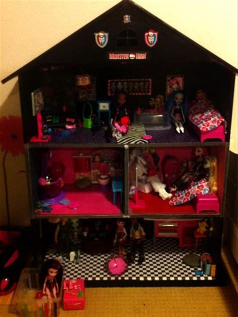 homemade monster high doll house homemade doll house monster high doll house my mom and i made monster high dolls