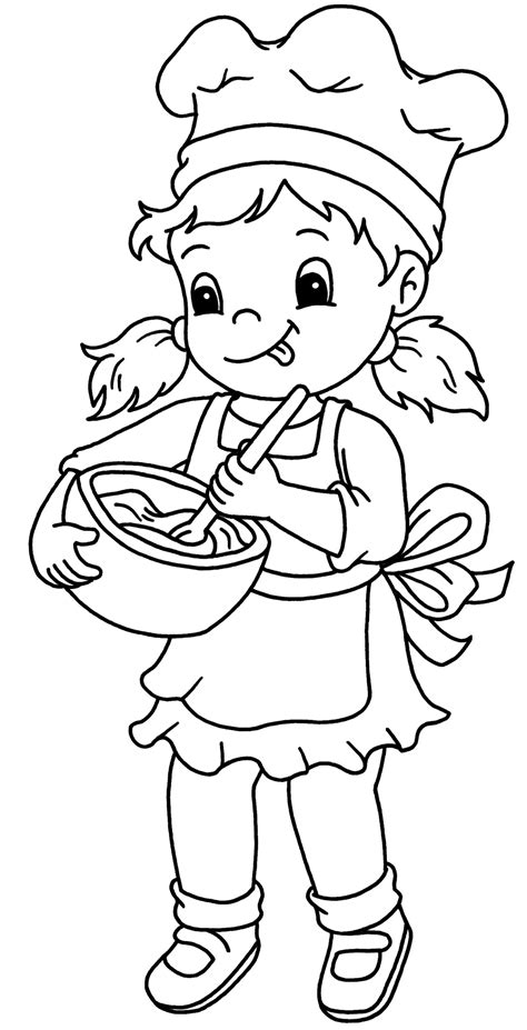 baker 43 jobs printable coloring pages