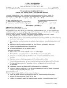 Social Security Claims Representative Sle Resume by Insurance Claims Representative Resume Sle Professional Experience
