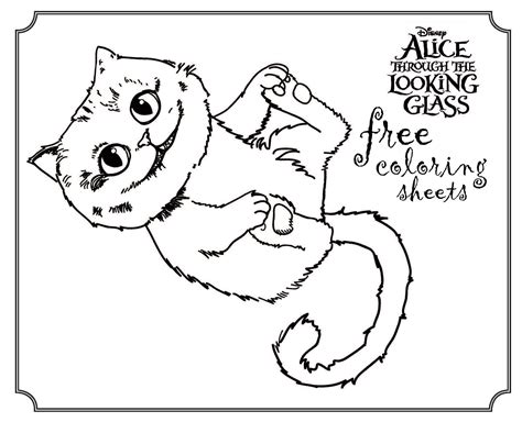 Disney Home Decor Ideas alice coloring sheet and printables highlights along the way