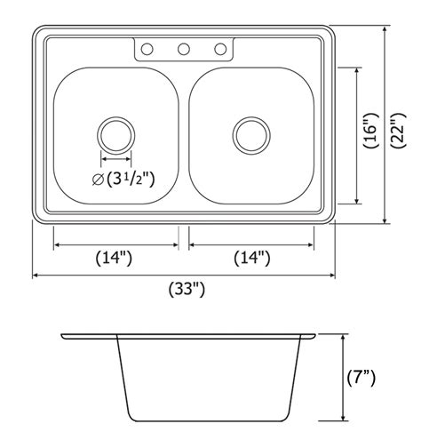 kitchen sink dimensions