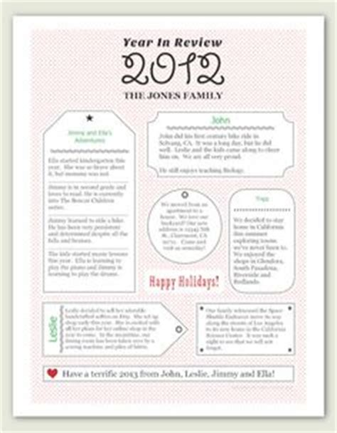 1000 Images About Memory Family Newsletter On Pinterest Christmas Letters Christmas Year In Review Letter Template Free