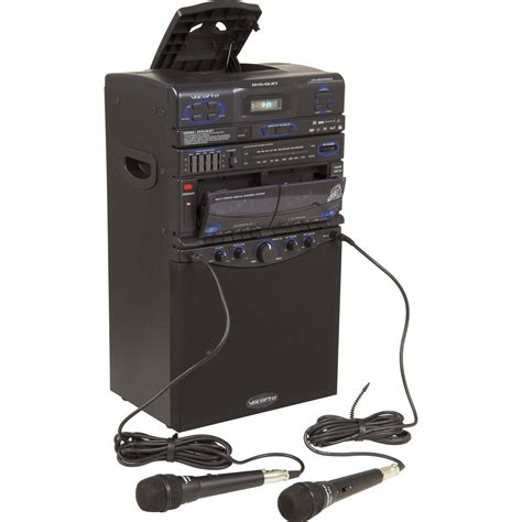 gpx machine cd g karaoke system with 5 1 2 quot black