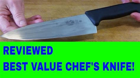 don t miss this bargain mac knife chef series chef s chef s knife review 8 inch victorinox fibrox youtube