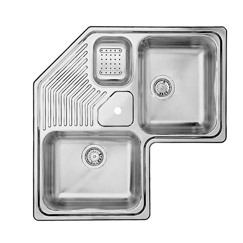 bowl corner sink blanco 2 bowl topmount stainless steel corner sink the