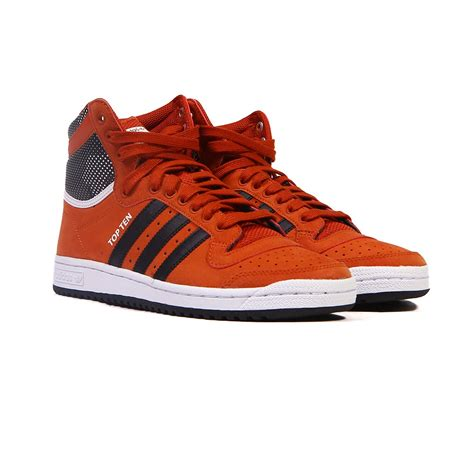 adidas top ten  fox redblack mens shoes  ebay