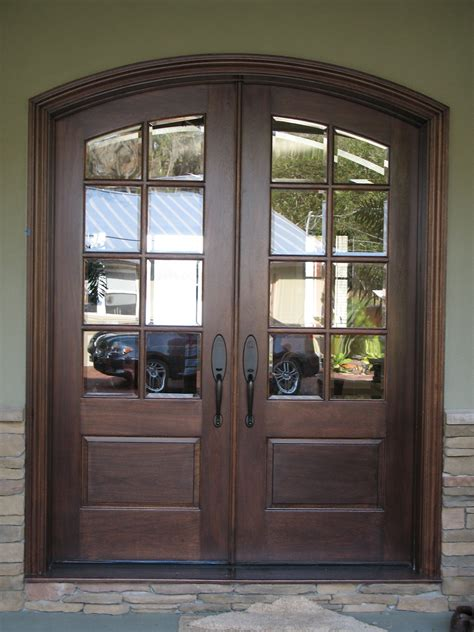 Wood Glass Front Door White Wooden Glass Door Frames For Patio Door And Exposed Brick Wall Panel