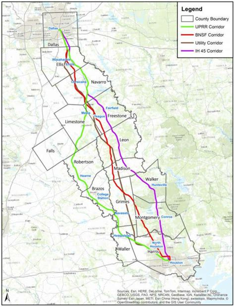 houston dallas map houston dallas high speed rail idea barrels on but