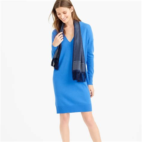 Sweater Gretto j crew collection italian v neck dress in blue lyst