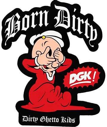 dgk  popeye pegatina sweet pea shaka sticker