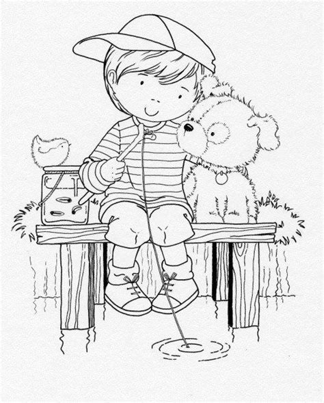 coloring page of boy fishing 500 best people coloring pages images on pinterest print