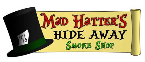 mad smoke shop logo from mad hatter s hide away smoke shop in rochester ny 14609