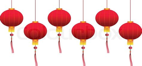 Wallpaper Home Decor by Vector Chinese Hanging Lanterns Stock Vector Colourbox