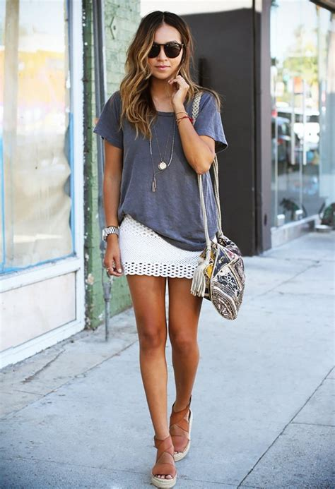 Rok Fashionable Sussan Brown Mini Skirt 15 fashionable ways to wear mini skirts this summer