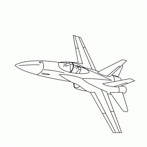 fighter plane free colouring pages