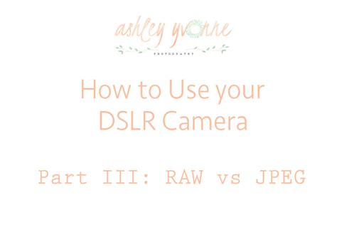 how to use dslr how to use your dslr part iii vs jpeg