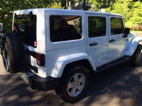 white jeep 4 door buy used white jeep wrangler unlimited sahara 4 door 4