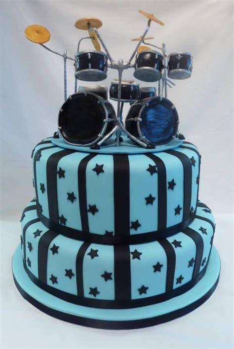 cake drummer drumkit cake topper happy birthday to you our band