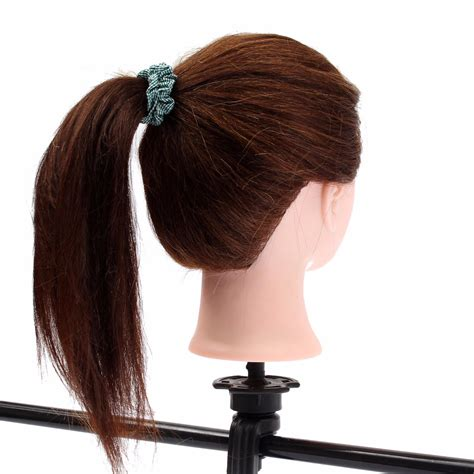 mannequin head to practice braiding in st louis 20 quot brown 90 human hair hairdressing training head