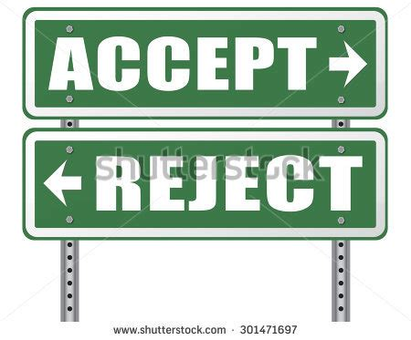 Accept Offer Accept Reject Approve Or Decline And Refuse Offer