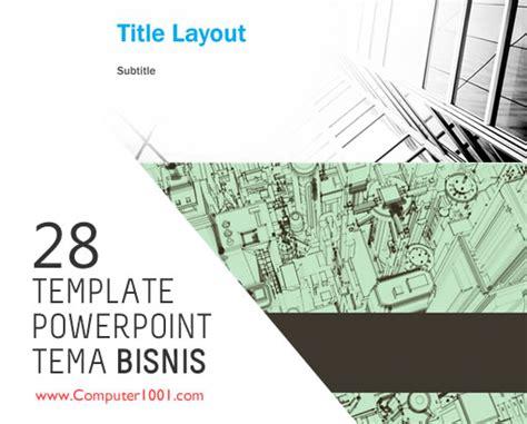 template powerpoint tema bisnis computer