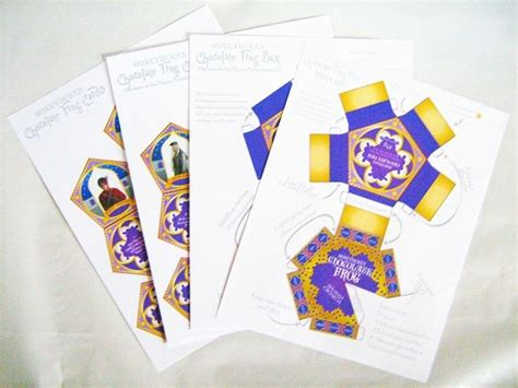 Chocolate Frog Box Template With Cards by Honeydukes Chocolate Frog Box Harry Potter Birthday