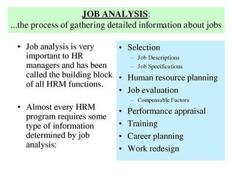 design by humans careers history of job analysis job analysis is very