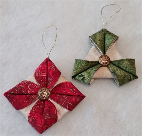 fabric folded ornaments demo day at lakeshore sewing beth williams