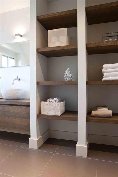 airy  functional niche shelves  modern decor