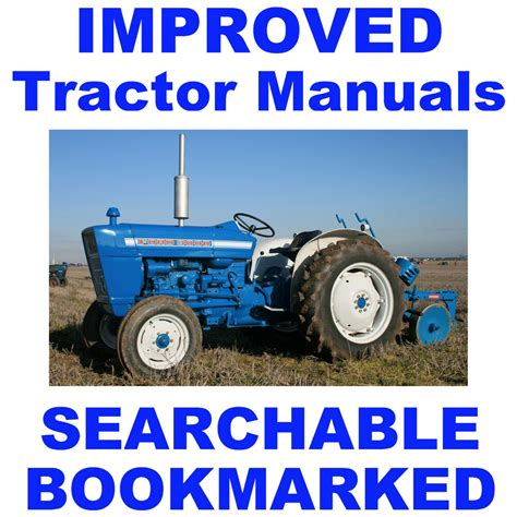 Ford 3000 3 Cylinder Tractor Service Parts Owners Manual