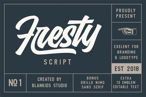 fresty script font befontscom