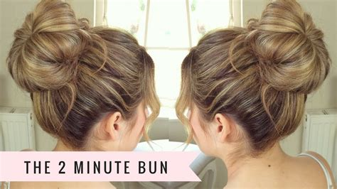 hairstyle design youtube two minute bun by sweethearts hair youtube