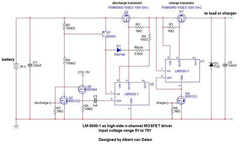 transistor l driver circuit lm5050 1 mosfet driver