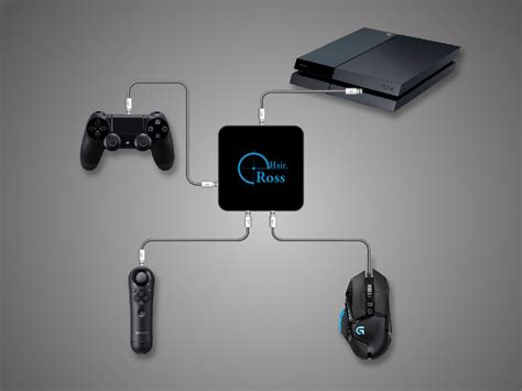 Navigation Controller connection of mouse and keyboard for ps4