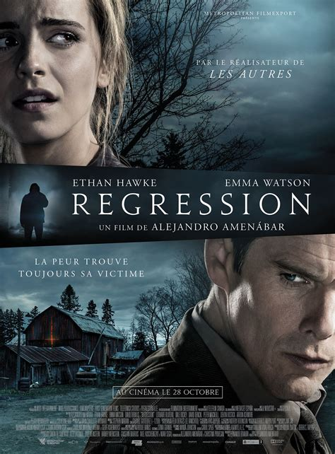 film emma watson streaming affiche du film regression affiche 1 sur 7 allocin 233