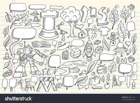 doodle speech free vector notebook doodle speech design elements mega vector