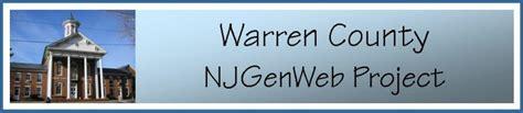 Warren County Nj Records Njgenweb Warren County Researcher S Surname List