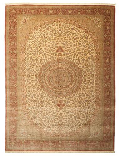 tappeti di seta qum di seta firmato shirazi 386x600 carpetvista