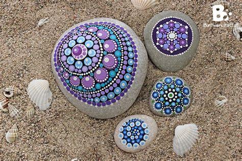 watercolor mandala tutorial diy mandala stones tutorial colorful crafts com projects